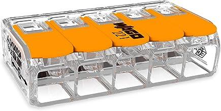 20 stuks Wago 415 verbindingsklemmen 5 geleiders met bedieningshendel 0,2-4 mm² kleine bouwvorm, transparant