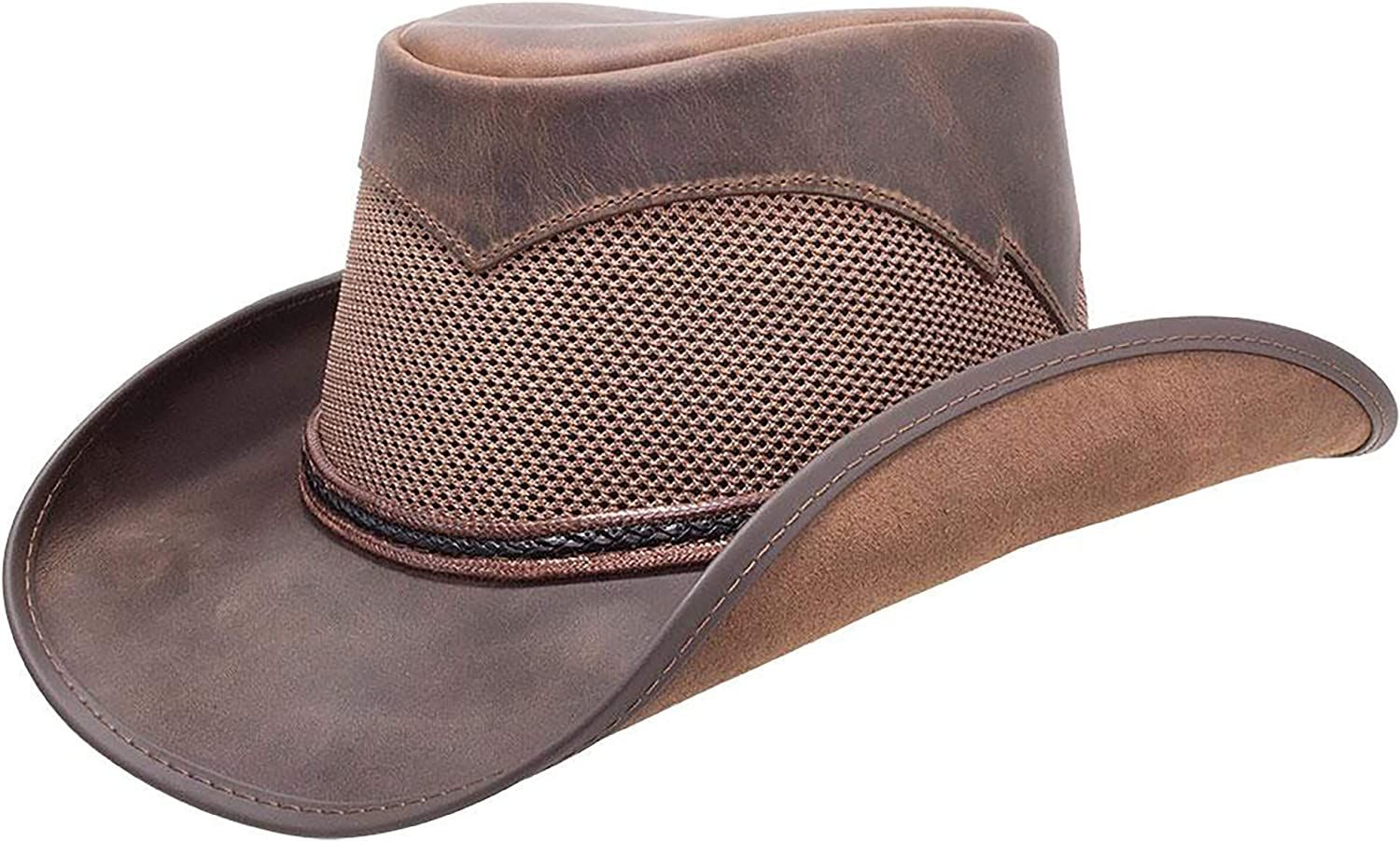 American Hat Makers Durango Leather Mesh Cowboy Hat — Handcrafted, Breathable
