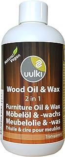 Uulki Natürliche Holzpflege Wachs & Öl für Innen Möbel aus Holz 250 ml | Möbelöl und Möbelwachs 2-in-1 | Vegan farblos