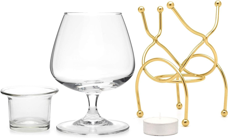 25% OFF Vinology Brandy Warmer Ranking TOP11 Set Gold Deluxe