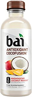 Bai Coconut Flavored Water, Madagascar Coconut Mango, Antioxidant Infused Drinks, 18 Fluid Ounce Bottles, 12 Count