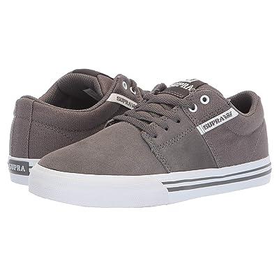 Supra Kids Stacks Vulc II (Little Kid/Big Kid) (Grey/White) Boys Shoes