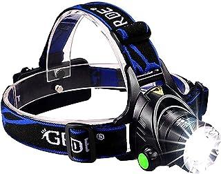 Oplaadbare led-hoofdlampen, zoomable 3 modi, super helder, 3000 lumen, led-koplamp, zaklamp, perfecte koplamp voor campin...