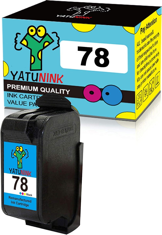 YATUNINK Remanufactured Ink Cartridge Replacement for HP 78 Tri-Color Ink Cartridge Compatible for HP Deskjet/Color Copier/Fax/Officejet/Photosmart/PSC Series Printer(1 Pack)