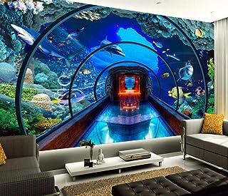 Dxbh Grandes Fondos De Pantalla Personalizados Submarino Acuario 3D Estéreo Tv Fondo Decoraciones Caseras