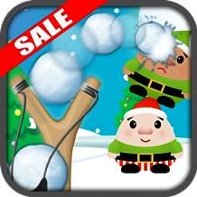Christmas Elf Slingshot Snowball Knockdown Kids Game (Kindle Tablet Edition)