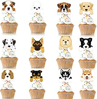 Coxeer 48PCS Cake Topper Decorative Animal Cake Topper Party Cake Pick for Party