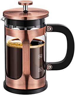 BAYKA Mothers Day Gifts French Press Coffee Tea Maker for Mothers Day, 304 Stainless Steel Coffee Press with 4 Level Filtr...