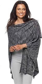 Parkhurst Women's Black Knit Covi Wrap Poncho W/Loop One Size