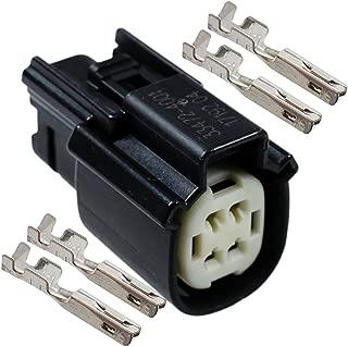 Molex Black Female 4 Pin Wire Connector Harley Waterproof, Sealed Kit, MX150
