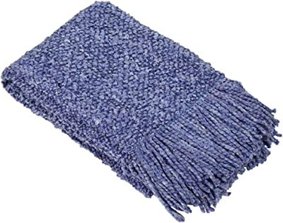 Camelot Decorative Acrylic / Polyester Throw Color: Sapphire Blue