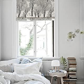 KARUILU home Quick Fix Washable Roman Window Shades Flat Fold, Forest (32W x 63H, Birch Grove)