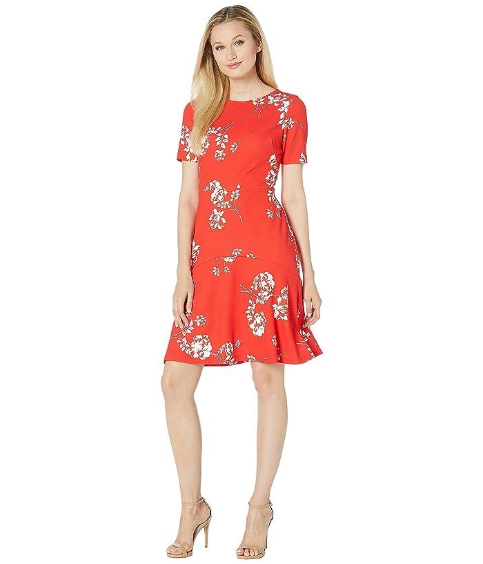 9d568e0a365 LAUREN Ralph Lauren Baba Payson Floral Dress (Summer Poppy/Colonial Cream)  Women