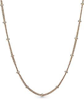 "Pandora Jewelry Beaded Chain Pandora Rose Necklace, 27.6"""