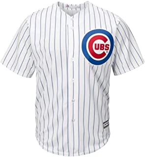Majestic Chicago Cubs MLB Youth Cool Base Home Team Jersey White (Youth Large 14/16)