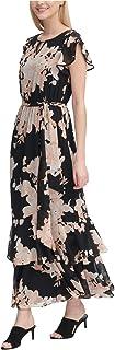 Womens Flutter Maxi Dress
