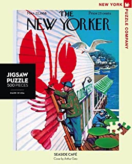 New York Puzzle Company - New Yorker Seaside Café - 500 Piece Jigsaw Puzzle