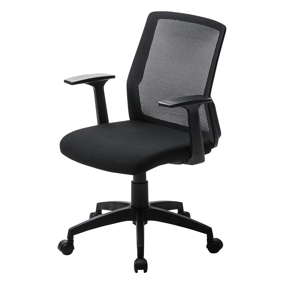 バルーン気味の悪い特異性サンワダイレクト オフィスチェア メッシュ 肘つき 高さ調節 ミドルバック キャスター付 ブラック 150-SNCM013