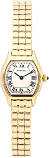 Cartier Tortue Quartz (Battery) Silver Dial Womens Watch 847253A6 (Certified Pre-Owned)