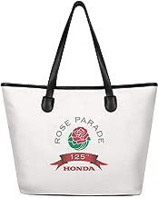 Womens Rose Bowl Parade Logo Canvas Shoulder Bag Casual Tote Bag for Work
