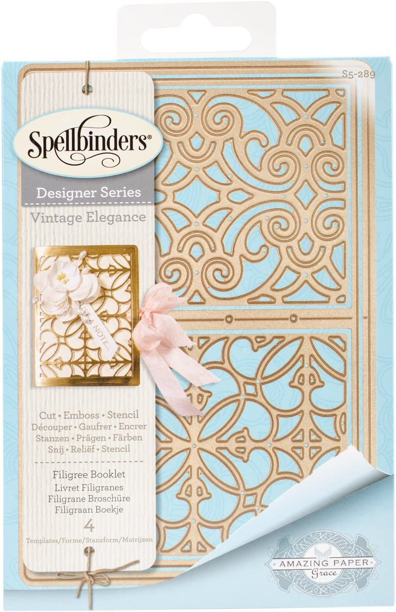 Spellbinders Filigree Booklet Etched Thin Jacksonville Mall Dies New Shipping Free Shipping Wafer