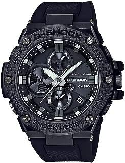 Men's Casio G-Shock G-Steel Black Carbon and Resin Bluetooth Watch GSTB100X-1A