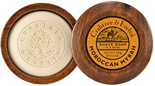 Crabtree & Evelyn Shave Soap in a Wooden Bowl