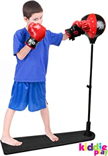 Kiddie Play Standing Boxing Set with Punching Ball and Gloves for Kids (Large)