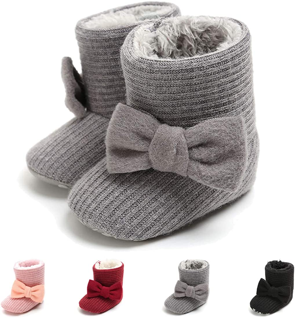 Baby Girls Boys Shoes Winter Warm Snow Boots Non-Slip Ankle Newborn Boots Infant Toddler Prewalker Booties Crib Shoes