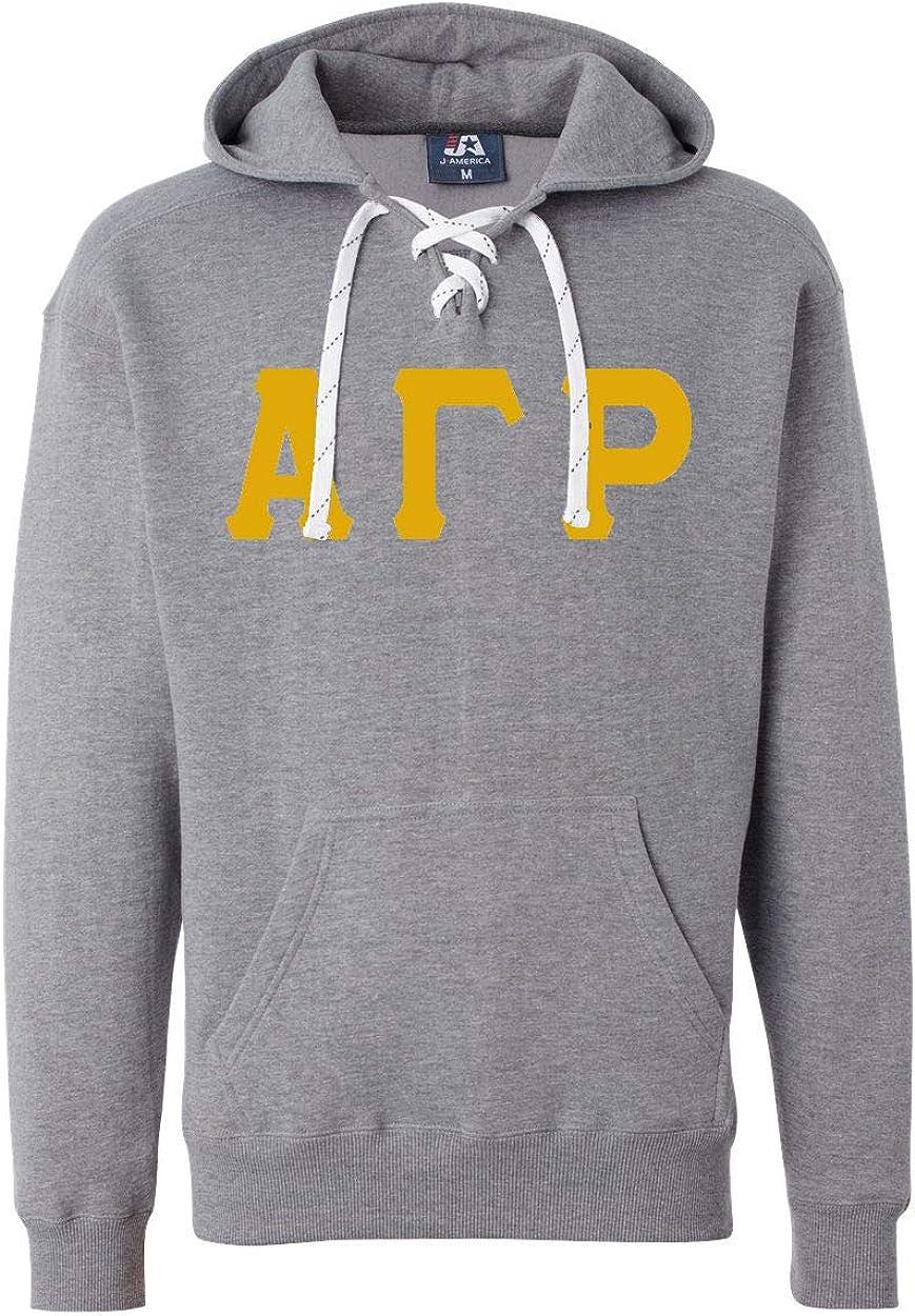 Mega_Greek Alpha Gamma Rho Sports Lace Hooded Sweatshirt