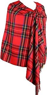 Long & Wide Scottish Clan Tartan Plaid Cashmere Feel Shawl Wrap Winter Warm Scarf 80