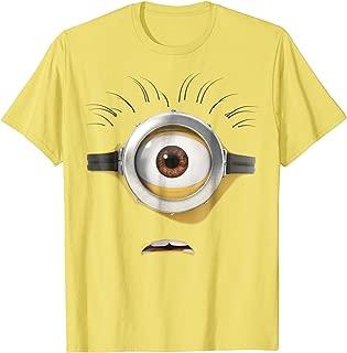 Despicable Me Minions Stuart Scared Face Graphic T-Shirt