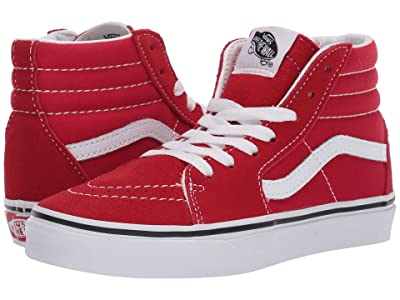 Vans Kids SK8-Hi (Little Kid/Big Kid) (Racing Red/True White) Kids Shoes