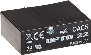 Opto 22 OAC5 AC Output, 12-140 VAC, 5 VDC Logic, 4000 Vrms I/O Isolation, 20 milliamps Minimum Load Current