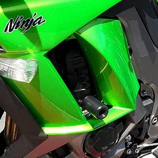 Shogun 2011 2012 2013 2014 2015 2016 Kawasaki Ninja 1000 Black No Cut Frame Sliders - 750-4819 - MADE IN THE USA
