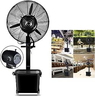 Ventiladores silenciosos para dormir Altura ajustable, Ventilador de piso oscilante de pie, Kit de nebulización de ventilador para una brisa fresca en el patio, Se conecta a cualquier ventilador de