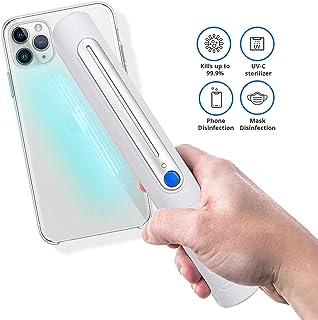 Wallcharmers Portable UVC Wand Sanitizer | UV Light Sanitizer for Room | Handheld UV Light Sanitizer | Portable Disinfecting Light | Kills 99% of Germs Viruses & Bacteria