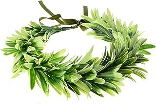 DreamLily Greek Headpiece Bridal Leaf Crown Green Halo Bohemian Headpiece Grecian WeddingNC13