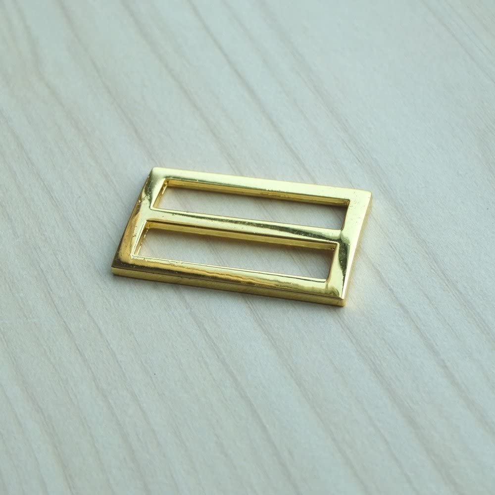 gold Goldfarben, 10/St/ück G/ürtelversteller// Stegschnallen// G/ürtelschnallen  f/ür Textilgurte aus Nylon Ma/ße: 2,5/cm, 3,8/cm, 5,1/cm 25.4mm 1