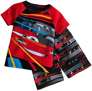 Loungewear for Boys and Girls Disney Cars Lightening McQueen Cotton Pyjama Shirt Set Full Sleeves Cuffed Pyjamas Nightwear