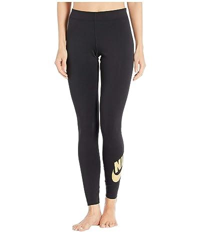 Nike NSW Leggings Leg-A-See Foil (Black/Metallic Gold) Women