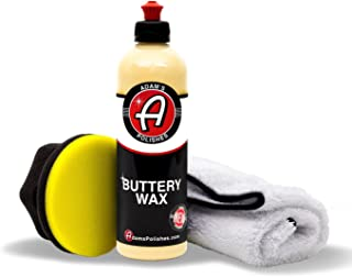Adam's Buttery Car Wax - Easy On, Easy Off, Even in Direct Sunlight - Carnauba Wax Fortified with Advanced Polymers - Makes Waxing Your Car a Joy, Not a Chore (Wax Kit)