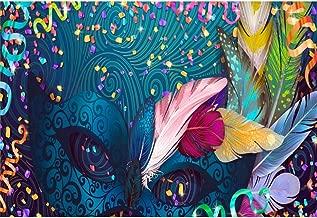 Yeele 8x6ft Venetian Mask Photography Background Glitter Sparkle Spots Masquerade Feather Rock Bridal Shower Ribbon Girls Photo Portrait Vinyl Studio Video Shooting Photo Backdrop Wallpaper