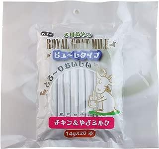 ペットプロ ロイヤルゴートミルク犬ピューレタイプ チキン&やぎミルク 14g×20本