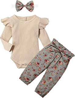 Best Newborn Baby Girls Clothes Cute Infant Baby Girl Clothes Baby Clothes Girl 3pcs Winter Outfit Review