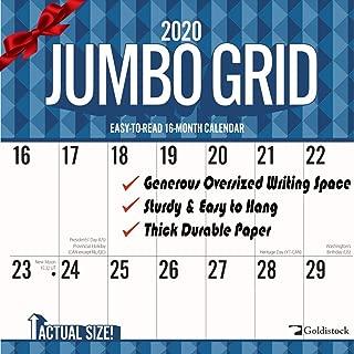 Best large print 2018 wall calendar Reviews