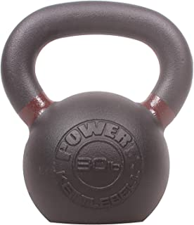 POWERT Cast Iron Kettlebell| Premium Quality Powder Coated with Color Coded Ring 5/10/15/20/25/30/35/40/45/50 lbs-Single