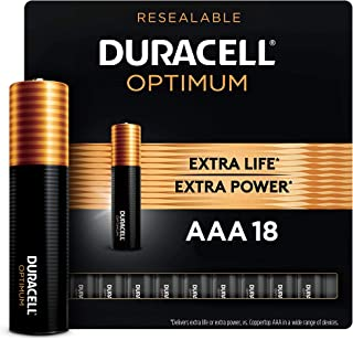Duracell Optimum AAA Batteries | 18 Count | Long Lasting Triple A Battery | Alkaline AAA Battery