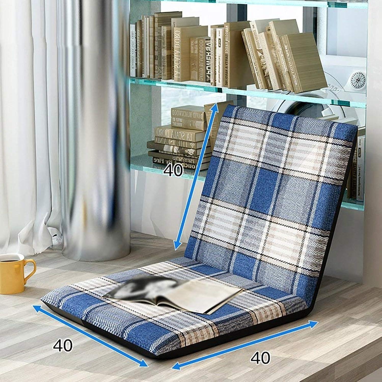 Comfortable Sofa, Lazy Sofa Foldable Bed Backrest Chair Single Small Sofa Balcony Living Room Sofa Chair (color   9 )