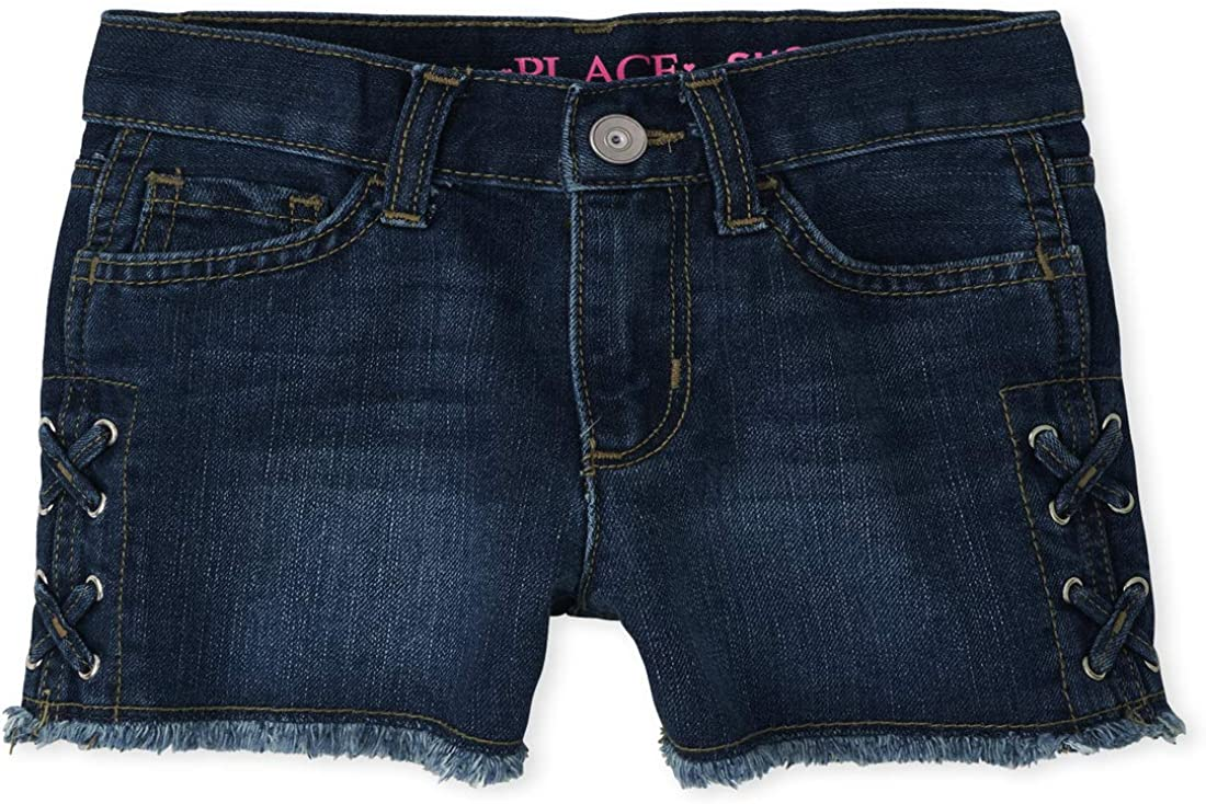The Children's Place Girls' Lace Up Shorts Shortie Ranking integrated 1st Ranking TOP9 place Denim